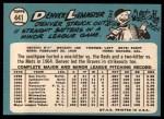 1965 Topps #441   Denver Lemaster Back Thumbnail