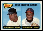 1965 Topps #374  Angels Rookies  -  Jose Cardenal / Dick Simpson Front Thumbnail