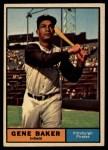 1961 Topps #339   Gene Baker Front Thumbnail