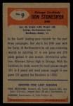 1955 Bowman #9   Don Stonesifer Back Thumbnail