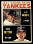 1964 Topps #281  Yankees Rookies  -  Jake Gibbs / Tom Metcalf Front Thumbnail