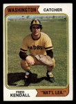 1974 Topps #53 WASH  Fred Kendall Front Thumbnail