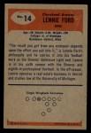 1955 Bowman #14   Len Ford Back Thumbnail