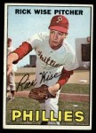 1967 Topps #37   Rick Wise Front Thumbnail