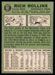 1967 Topps #98 COR  Rich Rollins Back Thumbnail