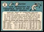 1965 Topps #30  Jim Bouton  Back Thumbnail