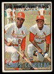 1967 Topps #63  Cards Clubbers  -  Lou Brock / Curt Flood Front Thumbnail