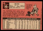 1969 Topps #93  Joe Foy  Back Thumbnail