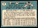 1965 Topps #47 COR Tommy Harper   Back Thumbnail