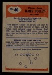 1955 Bowman #40   Jim Dooley Back Thumbnail