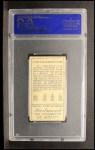 1911 T205 #36  Ty Cobb  Back Thumbnail