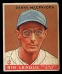 1933 Goudey #156  Danny MacFayden  Front Thumbnail