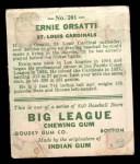 1933 Goudey #201  Ernie Orsatti  Back Thumbnail