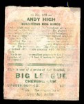 1933 Goudey #182  Andy High  Back Thumbnail