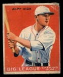 1933 Goudey #182  Andy High  Front Thumbnail