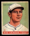 1933 Goudey #166  Sam West  Front Thumbnail