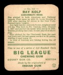 1933 Goudey #150   Ray Kolp Back Thumbnail