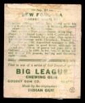 1933 Goudey #43  Lew Fonseca  Back Thumbnail
