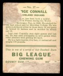 1933 Goudey #27  George Connally  Back Thumbnail