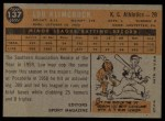 1960 Topps #137   -  Lou Klimchock Rookie Star Back Thumbnail