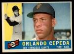 1960 Topps #450   Orlando Cepeda Front Thumbnail