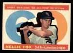 1960 Topps #555  All-Star  -  Nellie Fox Front Thumbnail