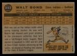1960 Topps #552   Walt Bond Back Thumbnail