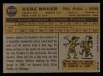 1960 Topps #539   Gene Baker Back Thumbnail