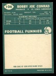 1960 Topps #106   Bobby Joe Conrad Back Thumbnail