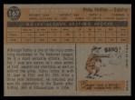 1960 Topps #167  Valmy Thomas  Back Thumbnail