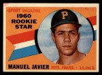 1960 Topps #133  Rookie Stars  -  Manuel Javier Front Thumbnail