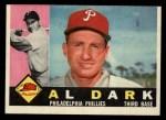 1960 Topps #472   Al Dark Front Thumbnail