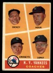 1960 Topps #465  Yankees Coaches  -  Bill Dickey / Ralph Houk / Frank Crosetti / Ed Lopat Front Thumbnail