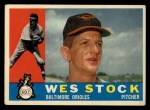 1960 Topps #481   Wes Stock Front Thumbnail