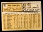 1963 Topps #78  Marv Throneberry  Back Thumbnail