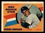 1960 Topps #134   -  Deron Johnson Rookie Star Front Thumbnail