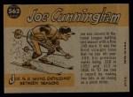 1960 Topps #562   -  Joe Cunningham All-Star Back Thumbnail