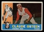 1960 Topps #206   Claude Osteen Front Thumbnail