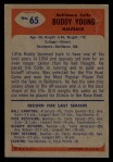1955 Bowman #65  Buddy Young  Back Thumbnail