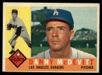 1960 Topps #333   Danny McDevitt Front Thumbnail