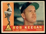 1960 Topps #291   Bob Keegan Front Thumbnail