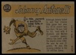 1960 Topps #572  All-Star  -  Johnny Antonelli Back Thumbnail