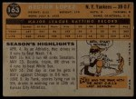 1960 Topps #163  Hector Lopez  Back Thumbnail