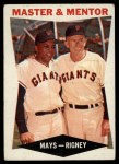 1960 Topps #7  Master & Mentor  -  Willie Mays / Bill Rigney Front Thumbnail