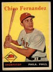 1958 Topps #348   Chico Fernandez Front Thumbnail