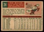 1959 Topps #24   Red Wilson Back Thumbnail