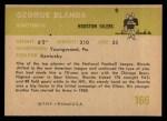 1961 Fleer #166  George Blanda  Back Thumbnail