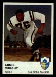 1961 Fleer #161   Ernie Wright Front Thumbnail