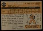 1960 Topps #120  Rookie Stars  -  Duke Carmel Back Thumbnail