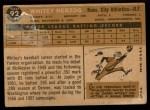 1960 Topps #92   Whitey Herzog Back Thumbnail